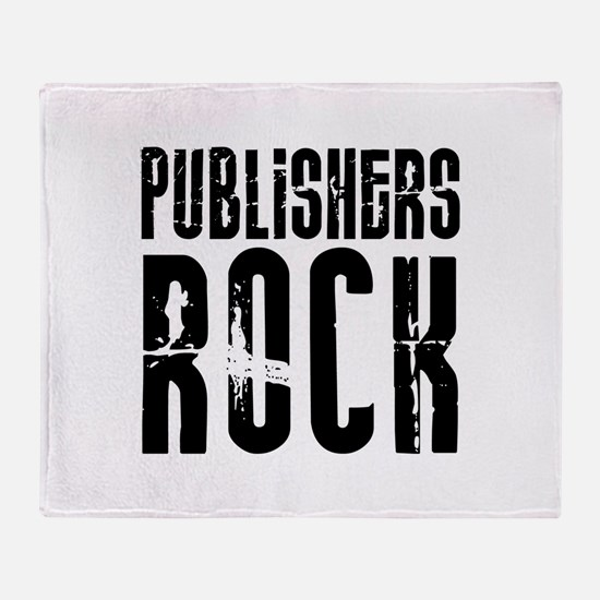 Publishers Rock Throw Blanket