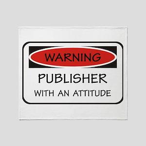 Attitude Publisher Throw Blanket