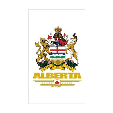 Alberta Coat of Arms Sticker (Rectangle)