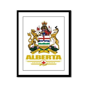 Alberta Coat of Arms Framed Panel Print