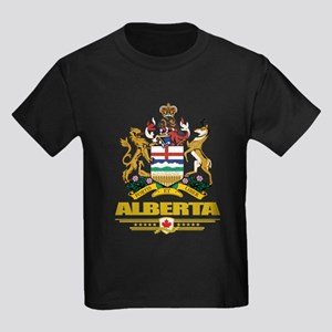 Alberta Coat of Arms Kids Dark T-Shirt