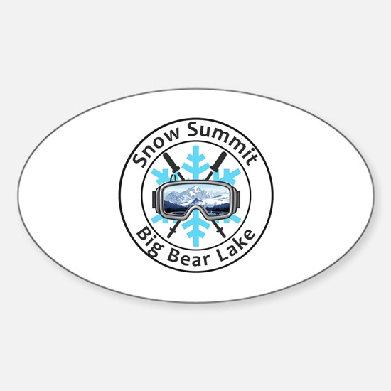 Cute Big bear mountain Sticker (Oval)