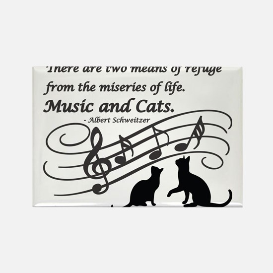 Cute Musical animals Rectangle Magnet