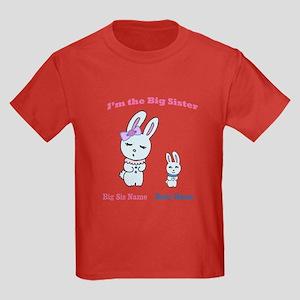 Big Sister Little Brother Kids Dark T-Shirt