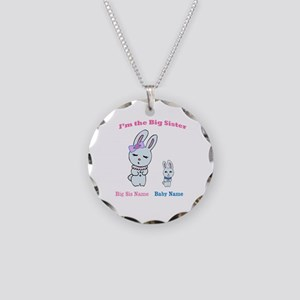 Big Sister Little Brother Necklace Circle Charm