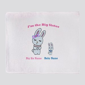 Big Sister Little Brother Throw Blanket