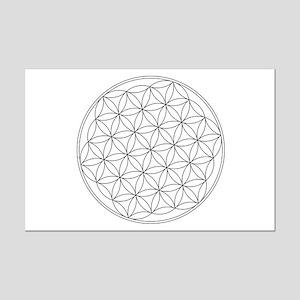 Flower Of Life Symbol Mini Poster Print