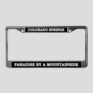 Colorado Springs License Plate Frame