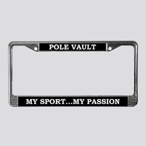 Pole Vault License Plate Frame
