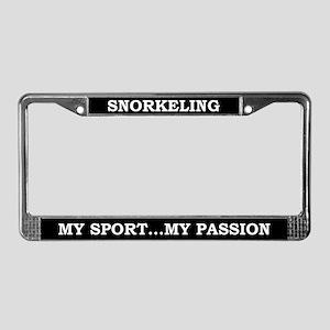 Snorkeling License Plate Frame