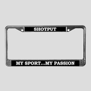 Shotput License Plate Frame