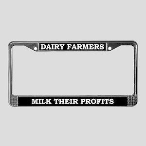 Dairy Farmers License Plate Frame