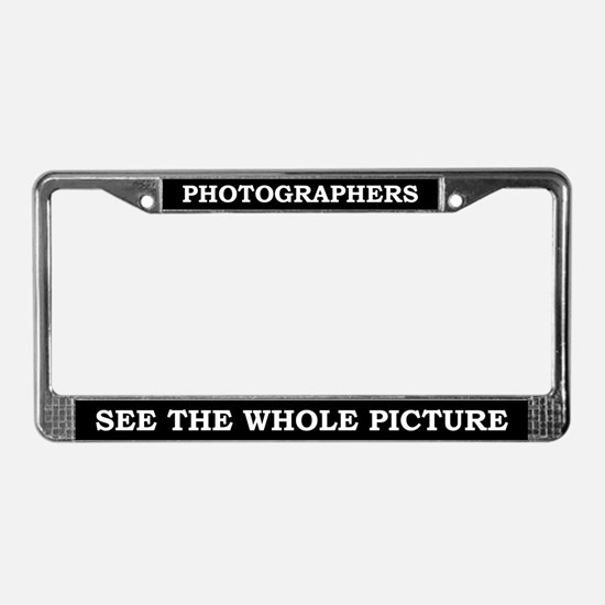 Photographers License Plate Frame