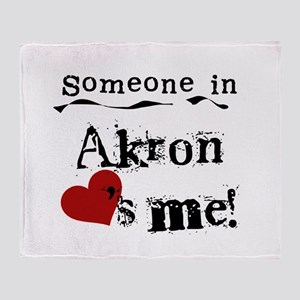 Akron Loves Me Throw Blanket