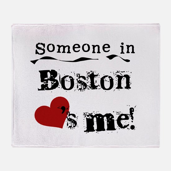 Boston Loves Me Throw Blanket
