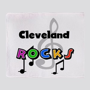 Cleveland Rocks Throw Blanket