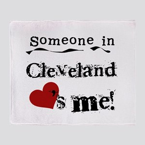 Cleveland Loves Me Throw Blanket
