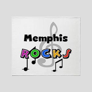 Memphis Rocks Throw Blanket