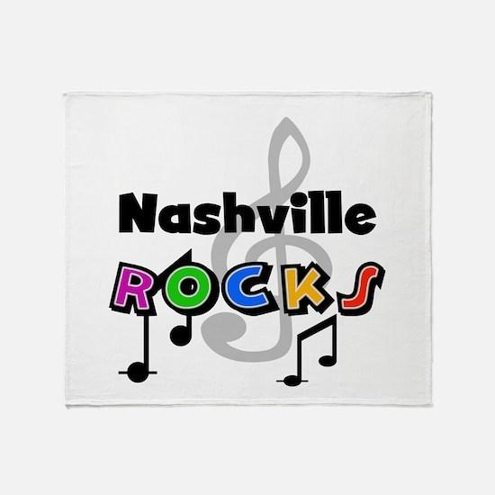 Nashville Rocks Throw Blanket