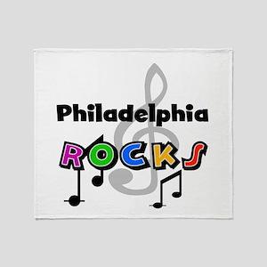 Philadelphia Rocks Throw Blanket