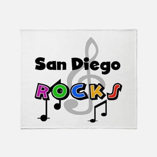 San Diego Rocks Throw Blanket