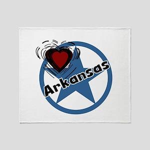 Love Arkansas Throw Blanket