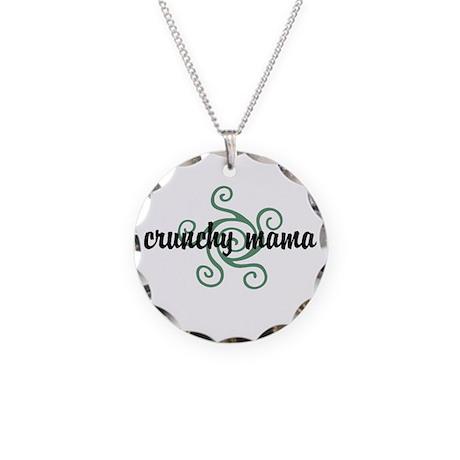 Crunchy mama Necklace Circle Charm