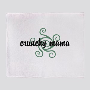 Crunchy mama Throw Blanket