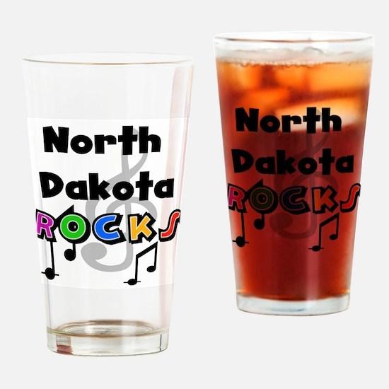 North Dakota Rocks Pint Glass