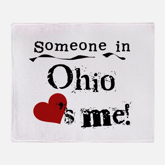 Someone in Ohio Throw Blanket