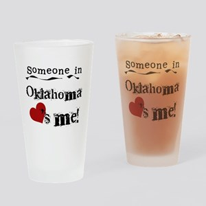 Someone in Oklahoma Pint Glass