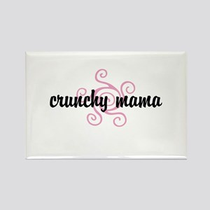 crunchy mama Rectangle Magnet