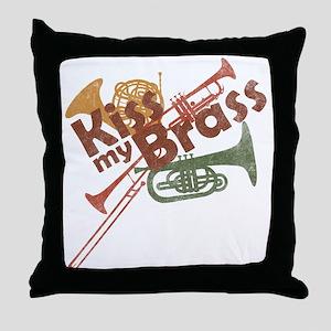 Kiss My Brass Throw Pillow