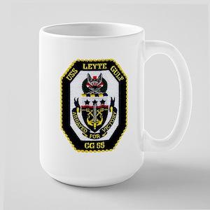 USS Lyete Gulf CG 55 Large Mug