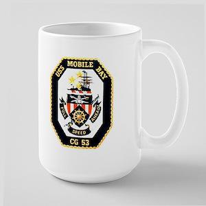 USS Mobile Bay CG-53 Large Mug
