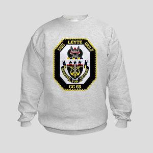 USS Lyete Gulf CG 55 Kids Sweatshirt