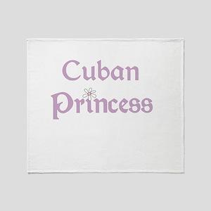 Cuban Princess Throw Blanket
