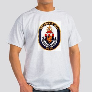 USS Bunker Hill CG 52 Ash Grey T-Shirt