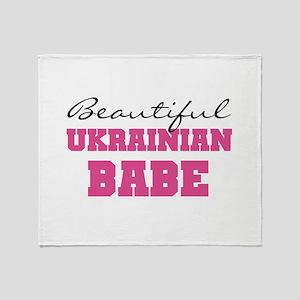 Ukrainian Babe Throw Blanket