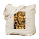 African Spirit in Ochre Tote Bag