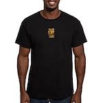 African Spirit in Ochre Men's Fitted T-Shirt (dark