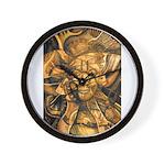 African Spirit in Ochre Wall Clock