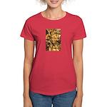 African Spirit in Ochre Women's Dark T-Shirt