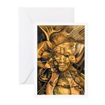 African Spirit in Ochre Greeting Cards (Pk of 20)