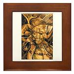 African Spirit in Ochre Framed Tile