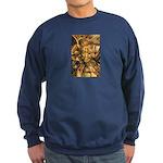 African Spirit in Ochre Sweatshirt (dark)