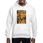 African Spirit in Ochre Hooded Sweatshirt