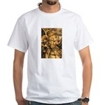 African Spirit in Ochre White T-Shirt