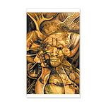 African Spirit in Ochre 38.5 x 24.5 Wall Peel