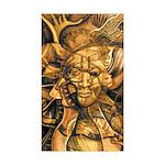 African Spirit in Ochre Sticker (Rectangle 50 pk)